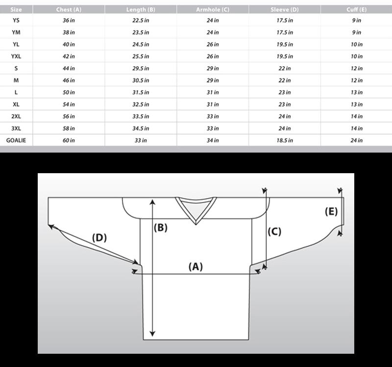 Nfl Reebok Jersey Size Chart