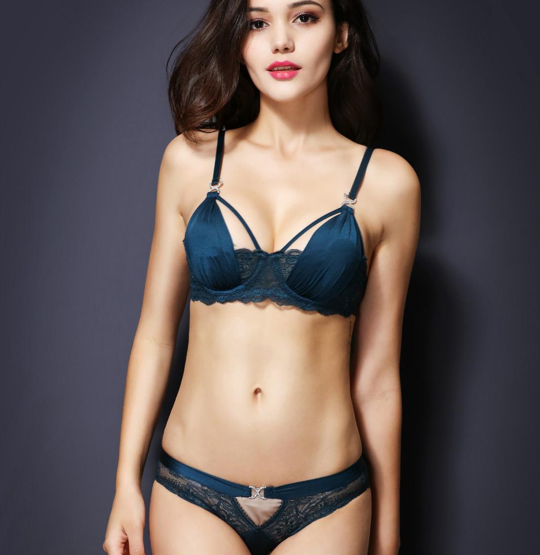 75a6655d2e86f Sexy Bra Set D Cup Plus Size Underwear Women 2016 Summer Sheer Lace Straps  Bra and Panty Sets Sequins Transparent Lingerie Hot   Nice plus size  clothing ...