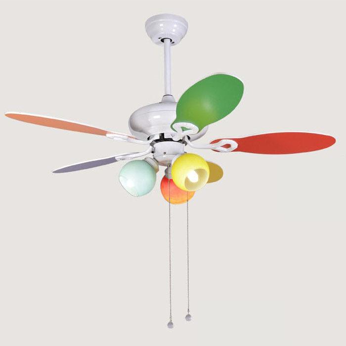 Children cute cute style fan lights ceiling fan light - Ceiling fan with light for bedroom ...