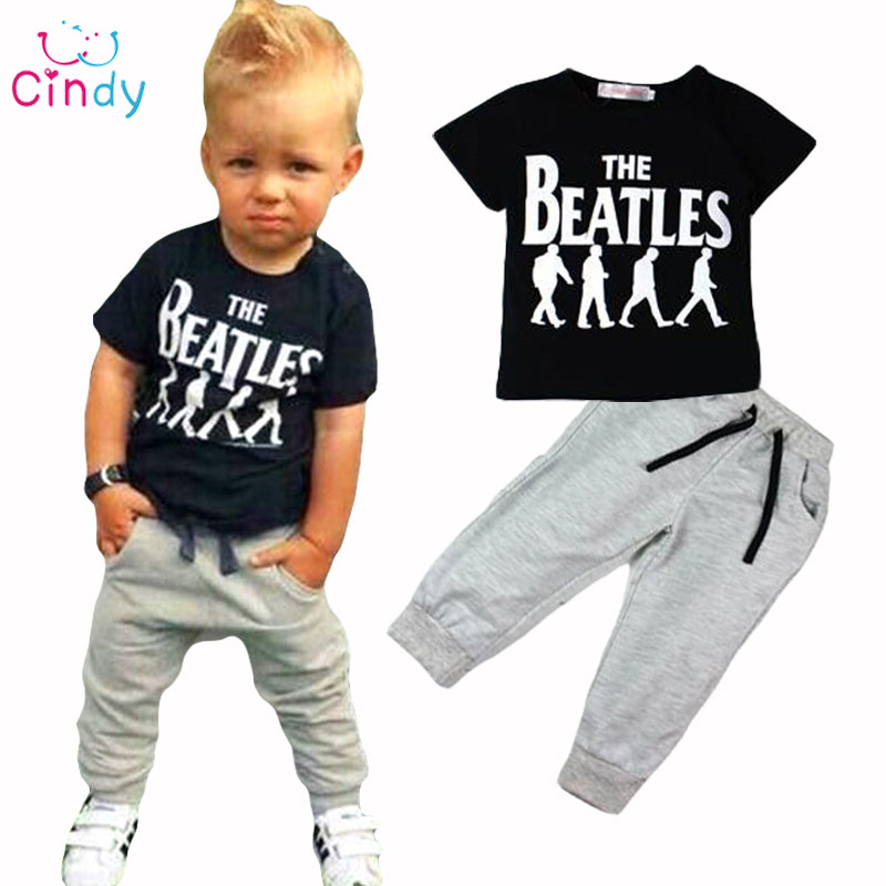 Retail New summer style fashion boys clothing set tracksuit children baby boy clothes sports suit 1