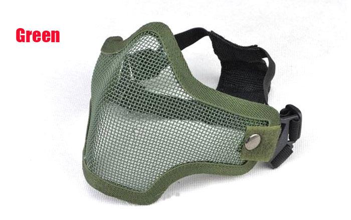 Пейнтбол Bb Gun пейнтбол удар металл сетчатая ткань защитное маска половина лицо тактическая Airsoft военный