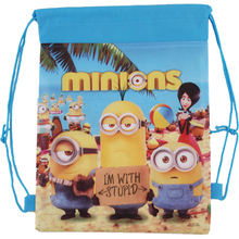 Children School Bags Despicable Me&Minions Kids Cartoon Drawstring Bag Mochila Infantil For Gift&Bag