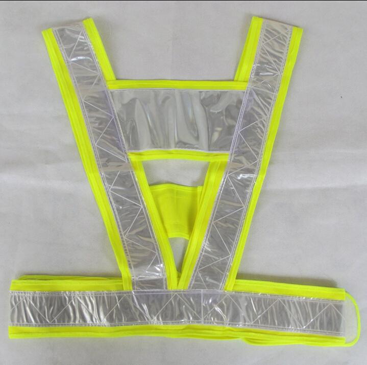 Бесплатная доставка 200 шт./лот высокая видимость V безопасности светоотражающий жилет трафика проезжей части санитарии работник строительство рабочий жилет
