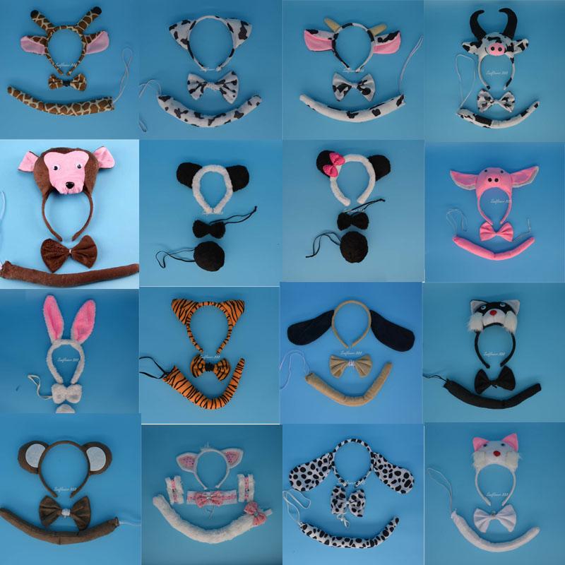 Animal Ear Headband Tail Tie font b Fancy b font font b Dress b font Costume