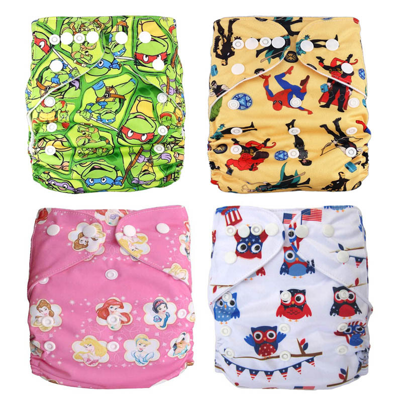 Reusable Diapers Potty Training Pants Prefold Cloth Diaper Grow with Babies Pannolini Lavabili for 6 5
