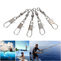 100pcs lot Brass Barrel Swivel Line Connector Solid Fishing Rings Interlock Snap Fishhooks Accessories