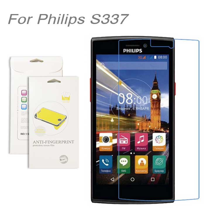 For Philips S337 3pcs lot High Clear LCD Screen Protector Film Screen Protective Film Screen Guard