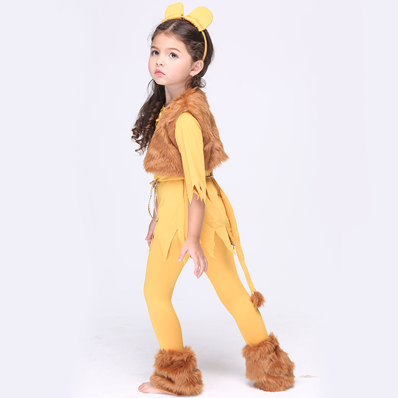 NEW Direct Selling Girls Deluxe Cowardly Lion Wizard Of OZ Cosplay font b Fancy b font