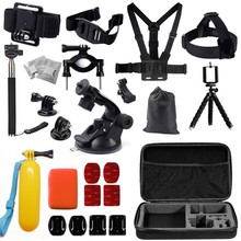 Gopro accessories set  kit mount for  go pro hero 4 3 2 1SJ4000  SJ5000 camera case xiaoyi Black Edition GS26  Free shipping