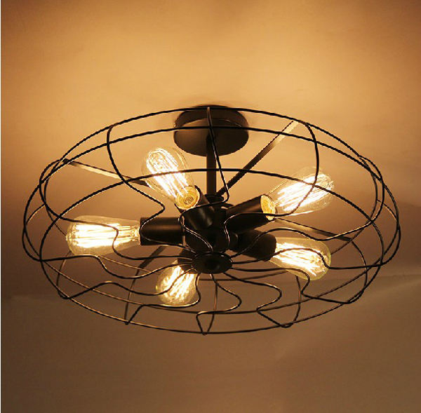 Retro Vintage Industry American Country Fan Edison Ceiling