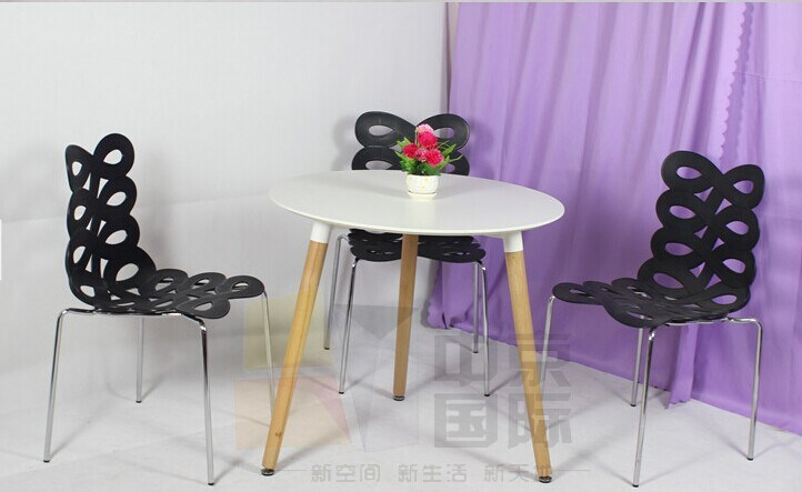 The fashion and art dining chair, hollow chairs, plastic+