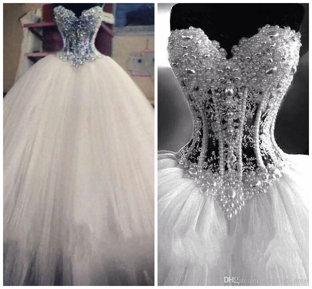Wedding Dresses With Bling Corset