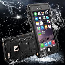 2015 New 100% Waterproof Shockproof Antiscratch Dirt proof Full Body Silicone Rubber&PC case cover for Apple iPhone 6  plus 5.5″