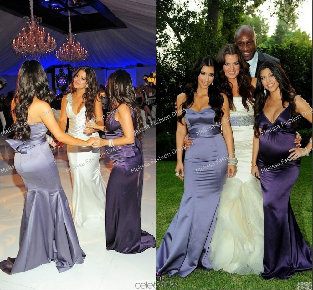 Khloe Kardashian Wedding Dress: New Fashion Hot Sale Sleeveless Kim Kardashian Purple