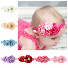Girls' Hair Accesories Girl's rose flower Headband Hot Sale girl  hair Band Children Headbands Christmas Gifts Free Shipping