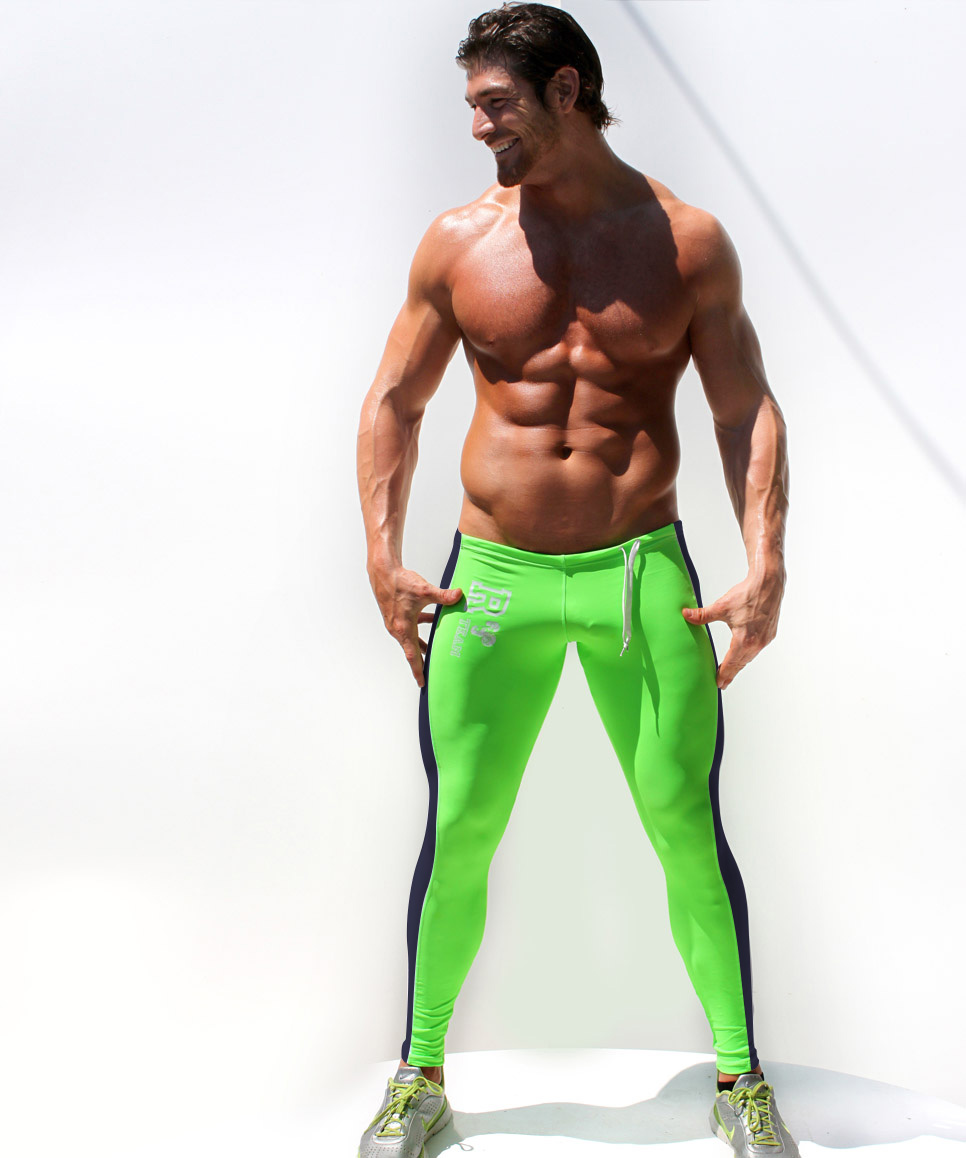 Men S Fitness Workout: HOT Sale Sexy AQUX Men's Workout Tights Elastic Gym Sports