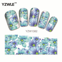 YZWLE 1 Pcs Nail Art de Água Adesivos de Unhas Beleza Wraps Foil Polonês Decalques Tatuagens Temporárias Watermark (YZW1382)