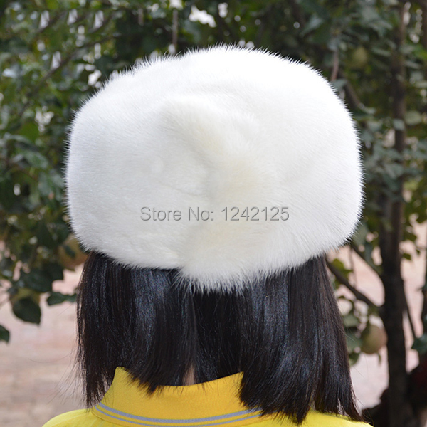 26c7d2a02b9 New Autumn winter parent-child mink fur hat windproof warm cute ...