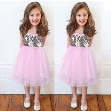 hot sale 2016 new fashion Kids Baby Girl Lace Tutu font b Dress b font Sequins