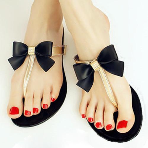 57d3aa956896 Wholesale SAF Womens Ladies Toe Bow Diamante Jelly Summer Flat ...