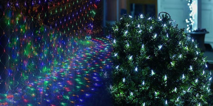 3m X2m 210 Led Fairy String Xmas Tree Mesh Curtain Ceiling