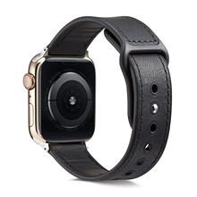 Кожаный ремешок для Apple watch, 4 ремешка, 44 мм, 40 мм, ремешок для часов correa, 42 мм, 38 мм, мужской/женский браслет, ремень для iwatch 4, 3, 2, 1, аксессуары(Китай)