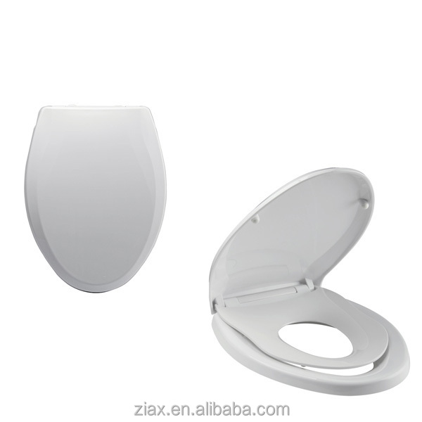 Quiet Close With Grip Tight Bumpers Elongated Toilet Seat