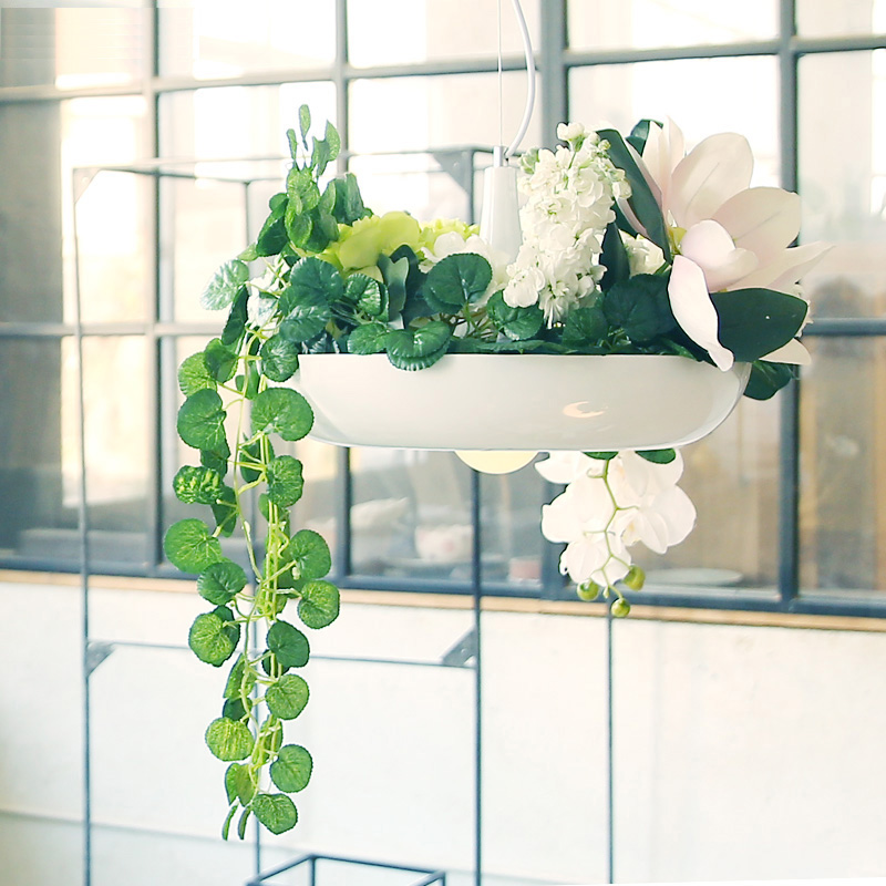 Hanging Outdoor Lights Without Trees: Modern Hanging Garden Of Plants Lamp Nordic Creative White