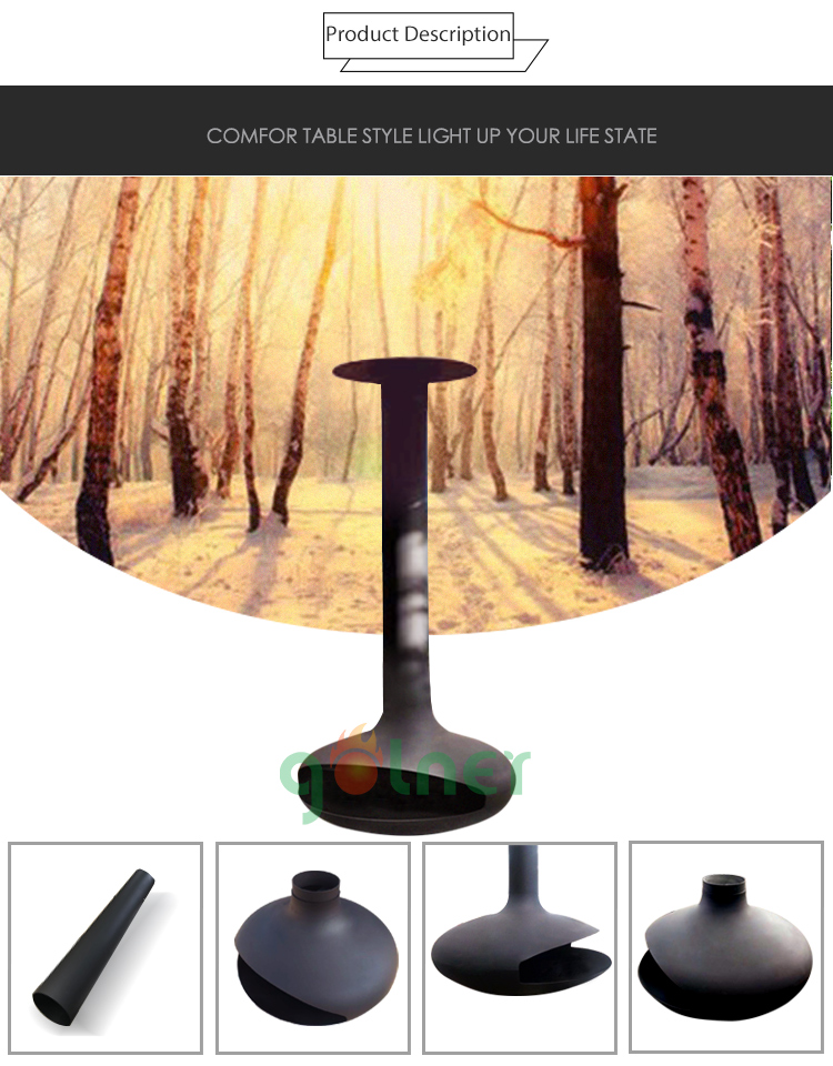 High Quality The Oval Hanging Wood Fireplace Wood Burning
