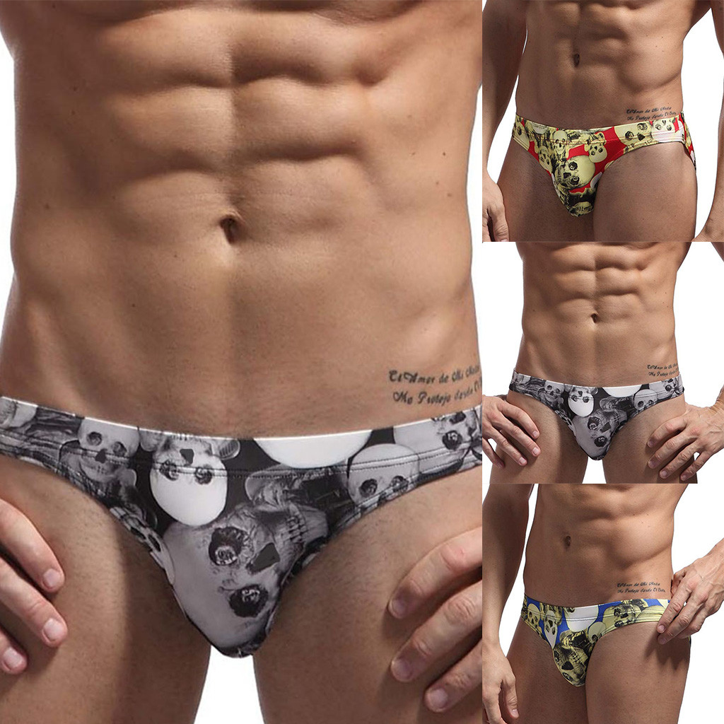 75afac8087 2019 S L New Men'S Swimming Trunks Hang Buckle Swim Trunks Sexy Low ...