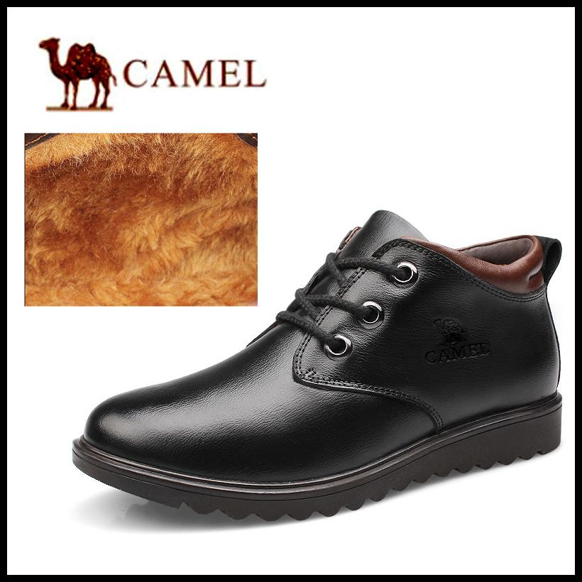 2015 warm Camel Genuine Leather waterproof men boots