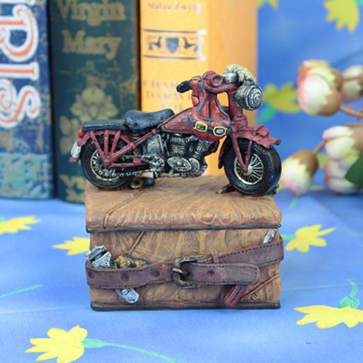 Иностранные ремесел украшения украшения коробка для ювелирных изделий ящик для хранения американский мотоцикл творческое начало коробка для ювелирных изделий