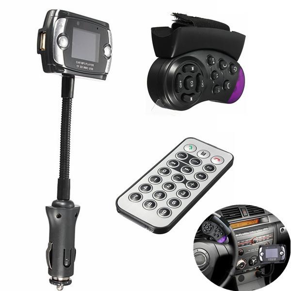 Новинка A2DP автомобильный комплект беспроводной Bluetooth FM передатчик mp3-плеер USB для SD LCD дистанционного громкой связи