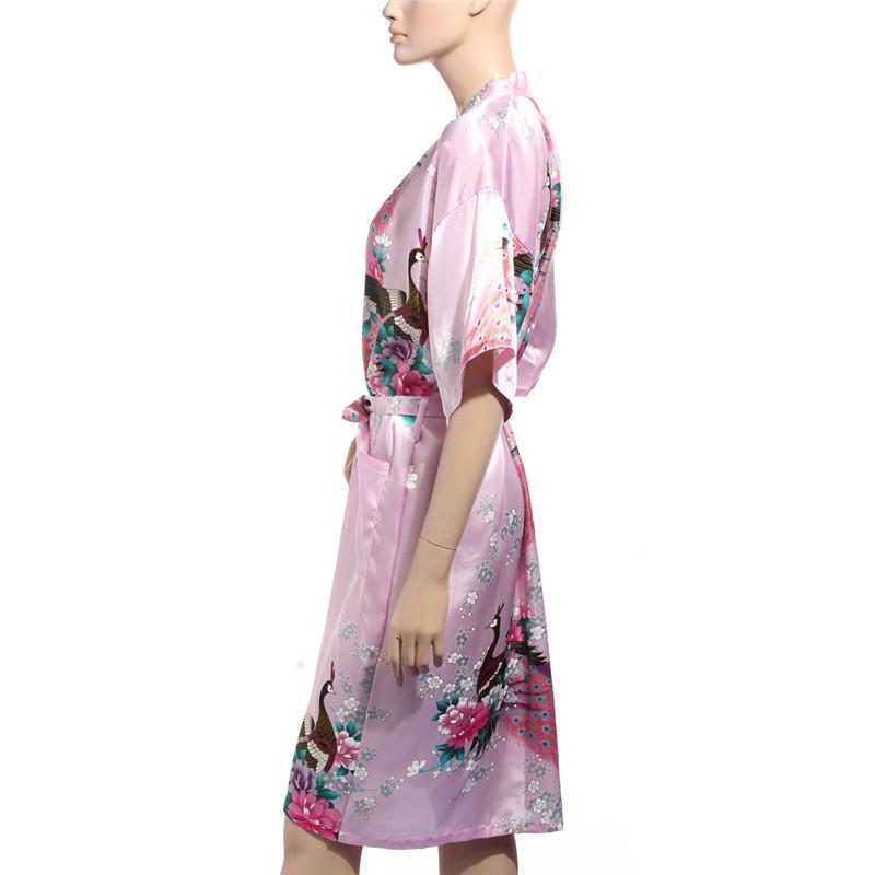 Хип женщины кимоно одеяние оби японский юката гейша платье сексуальный женское бельё искусственный шелк ночной рубашке пижама халат 10 цветов
