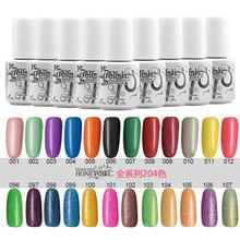 12pcs poplar UV gel nail polish soak off uv color gel 5ml free shipping