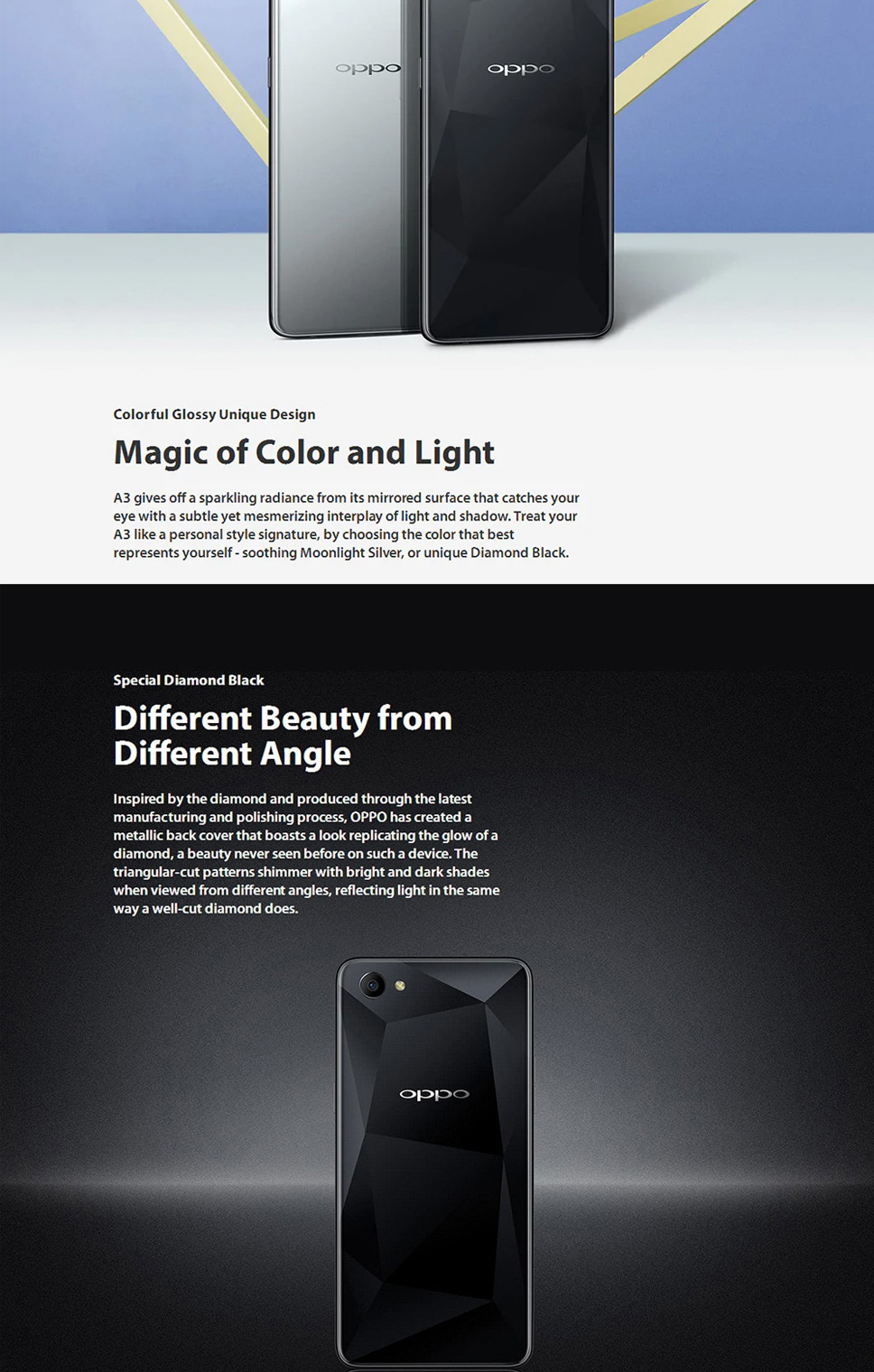 OPPO A3 4G Phablet With 4GB RAM 128GB ROM, 16 0MP Rear Camera, Facial  Sensor Black