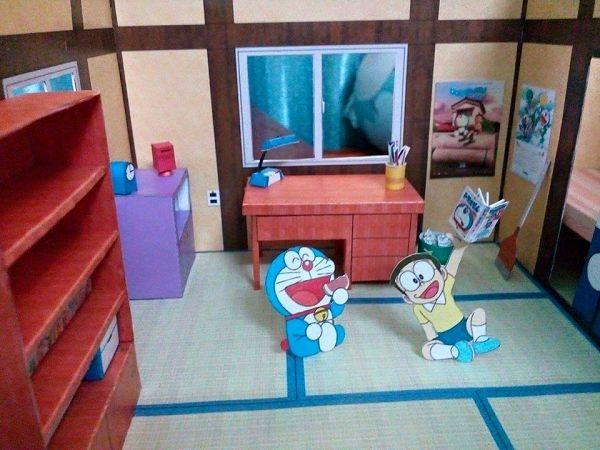 3d Paper Model Doraemon Nobita Bedroom Papercraft Educational 3d Puzzle Diy Toy Birthday Gift For Children Aliexpress