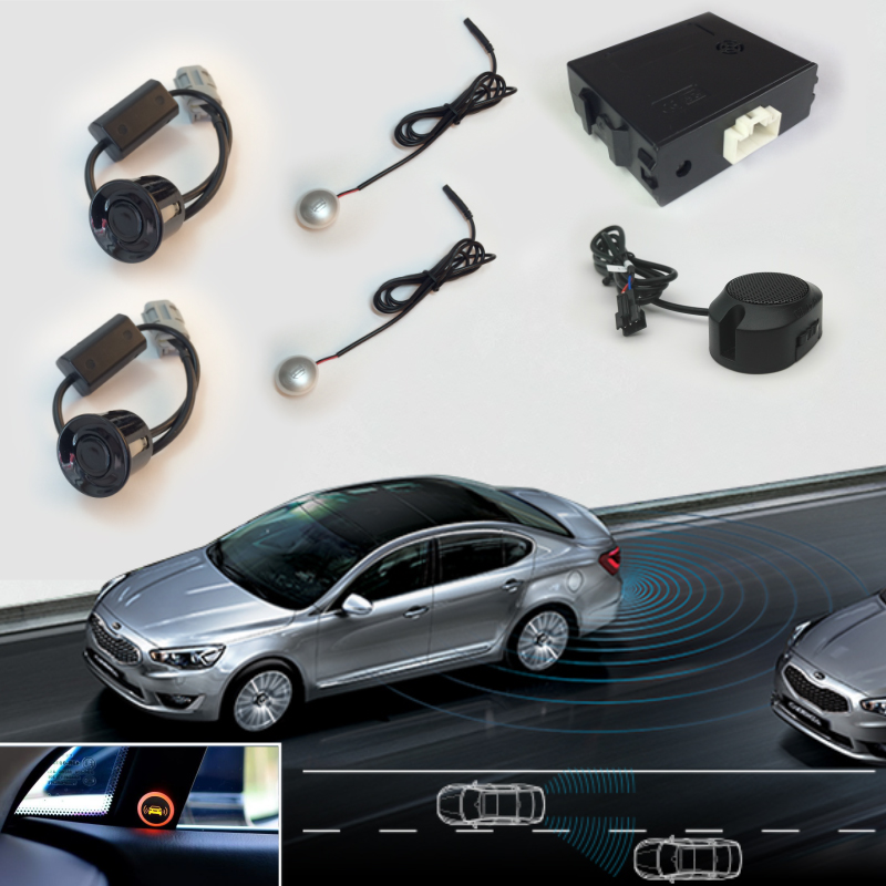 auto blind spot detection assist system with led warning lights oem parking sensors alarm buzzer. Black Bedroom Furniture Sets. Home Design Ideas