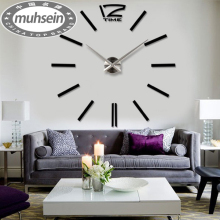 max3 3d Best home decoration / DIY wall clock wall clocks large stickers birthday clock Wall Unique gift Wholesale Free shipping