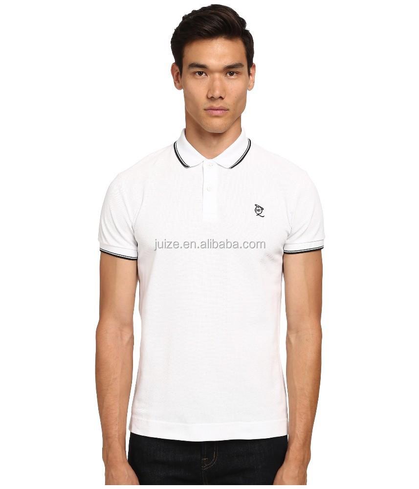 Men's Cotton Sustom White Plain Polo T Shirt - Buy Mens ...