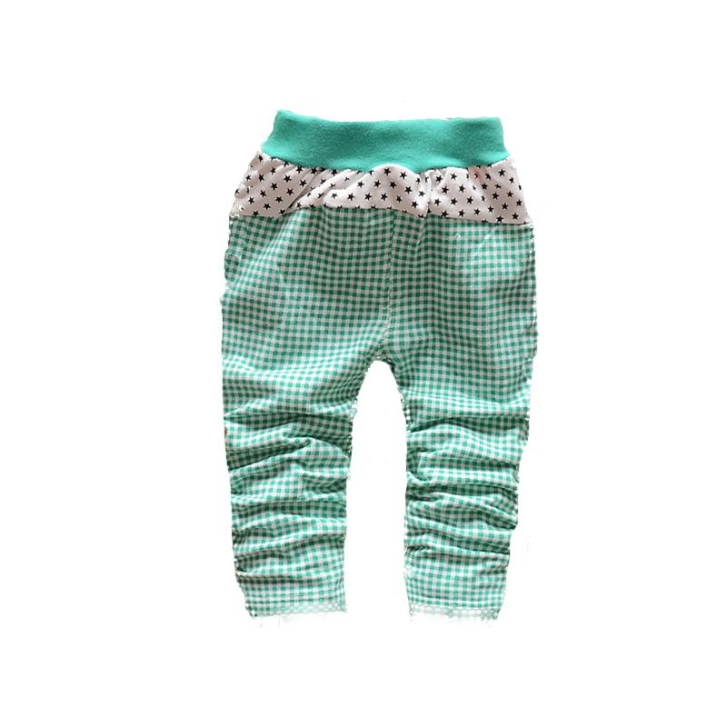 В осень из корейский младенческой девочка дети покрытый с модное решётка Star вязание брюки брюки B113