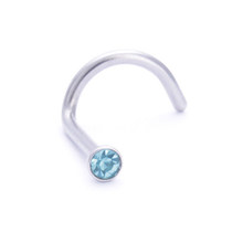 2 шт., кольца для носа, шпильки, хирургическая сталь, Маленький драгоценный камень, болт с кристаллом, кольцо для носа, кольцо для пирсинга, же...(China)