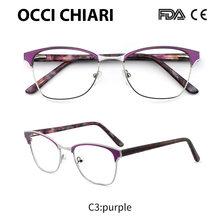 OCCI CHIARI 2018, Ретро стиль, нержавеющая сталь, металл, женские очки для близорукости, прозрачные линзы, оптические очки Gafas W-CASANA(Китай)