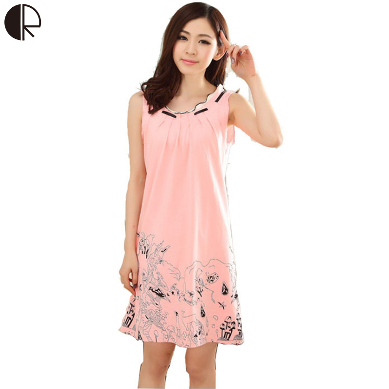 2016 new women's fashion plus big size nightgown ...