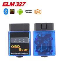 2015 Free Shipping Super Mini ELM327 Bluetooth Interface V2.1 OBD2 II Auto Diagnostic Tool ELM 327 Work ON Android Torque/PC