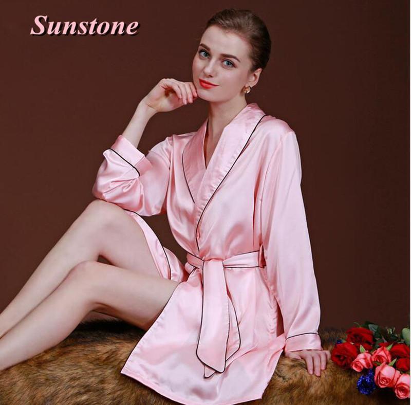 c3c8d203eb Sexy Women Silk Satin Robe Kimono Robes For Ladies Wedding Bride ...