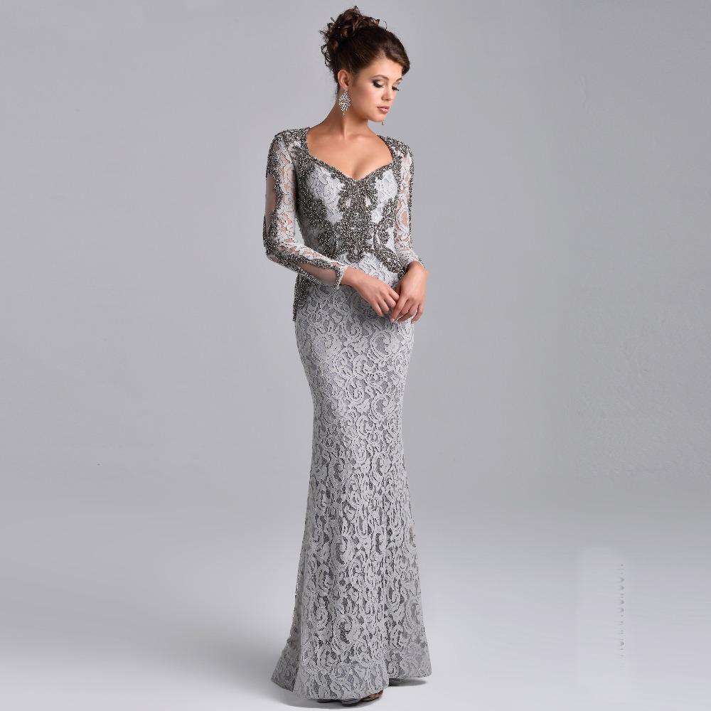2016 Lace Mermaid Mother Of The Bride Dresses Groom: Lace Long Sleeves Mermaid Wedding Mother Dresses 2016