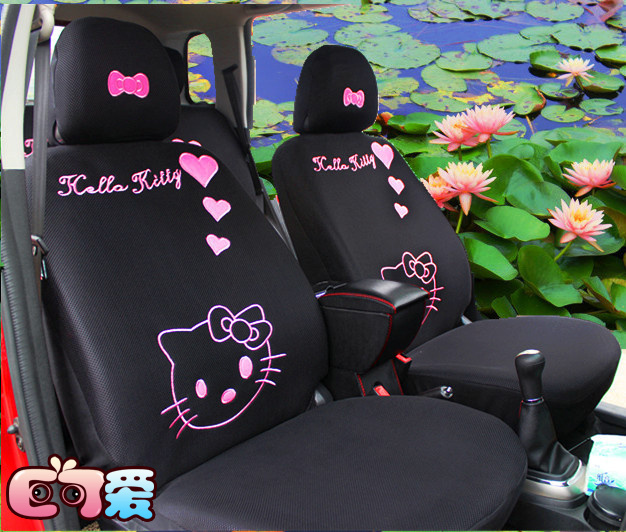Free shipping new lovely 10 pcs hello kitty universal car - Hello kitty car interior accessories ...