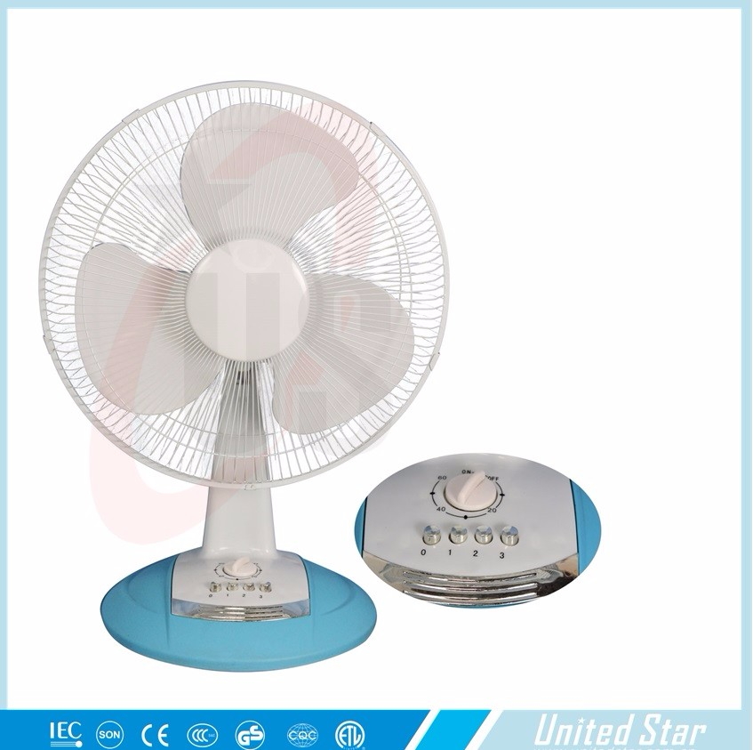 Electric Ac Power Low Power Consumption 12inch Table Fan