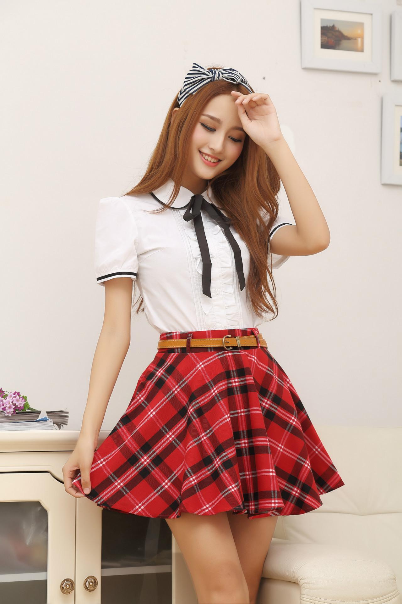 13e0b6f6c0 Compre Uniforme De Niña De Escuela Japonesa Falda De Uniforme De ...